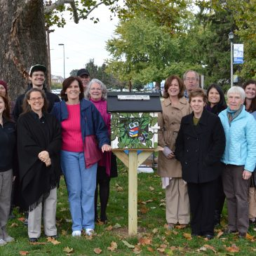 photo of Little Free Library dedication