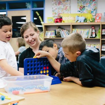 photo of UK student with Garden Springs students