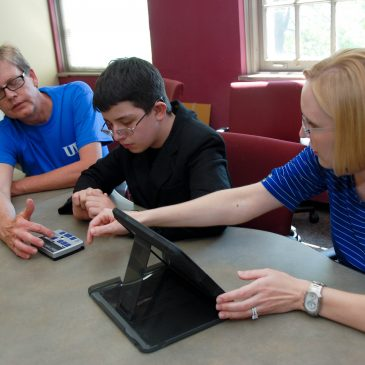 photo of deaf-blind project