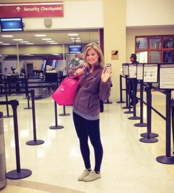 photo of Haleigh LeCompte at the airport