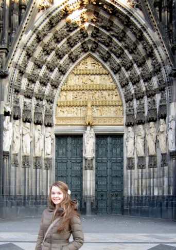photo of Rachel Marazzi at Cologne Cathedral in Germany