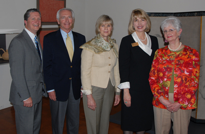 Kentucky First Lady Jane Beshear (center) was inducted into the UK College of Education Hall of Fame on Friday, April 9, 2010. Joining the First Lady at the ceremony were (L-R) UK Vice President for External Relations Tom Harris, Kentucky Governor Steve Beshear, UK College of Education Dean Mary John O'Hair, and Becky Blair.