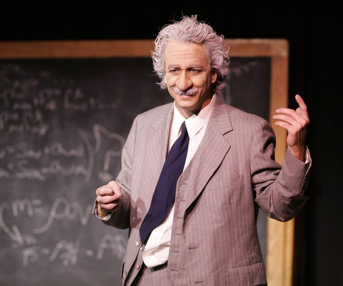 photo of Bob Singleton as Einstein
