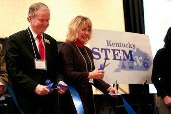 photo of STEMx Ribbon Cutting