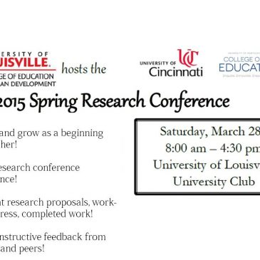 Spring Research Conference flyer