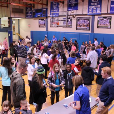 STEM Students and Faculty Hold Family Math Night