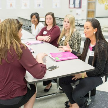 College of Education Students Practice Interviewing for Teaching Positions
