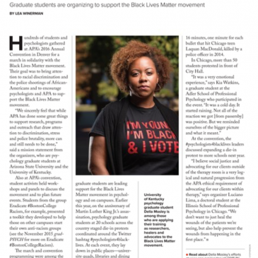 Counseling Psychology Graduate Student Featured in APA Magazine