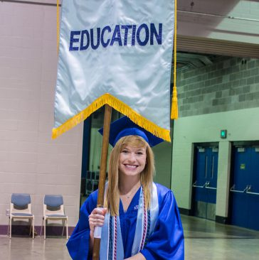 photo of student at commencement