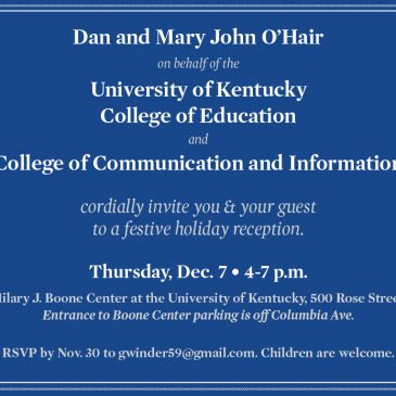 Dec. 7 College of Education Holiday Reception