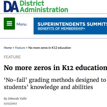 No More Zeros in K12 Education?