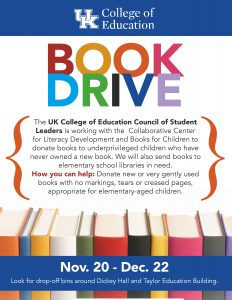 Book drive flyer
