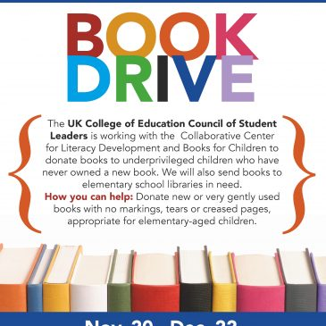 Dec. 22 College of Education Book Drive