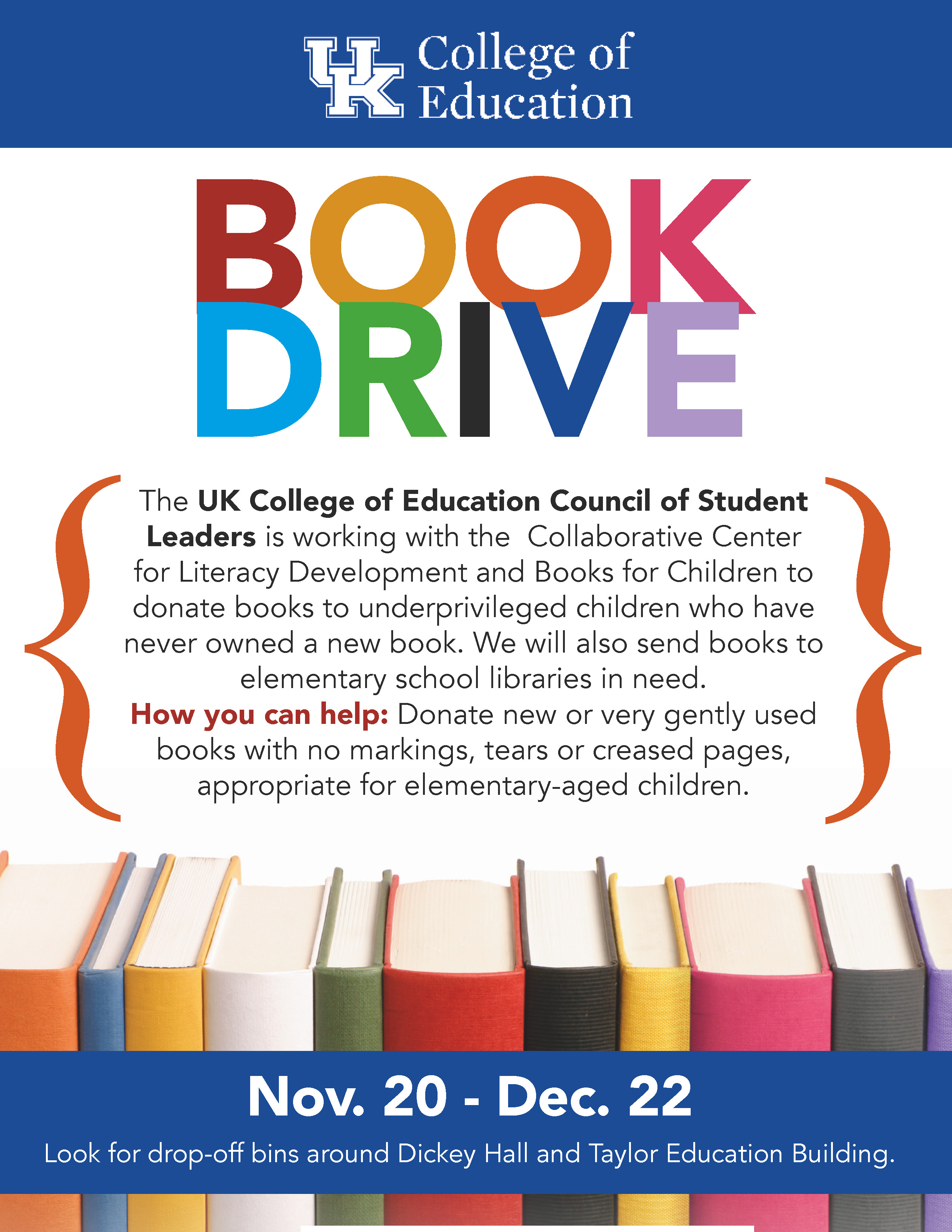 Collaborative Teaching Books ~ Dec college of education book drive uk