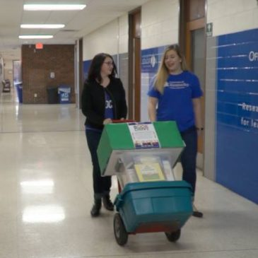 UK College of Education Students Collecting Books for Children