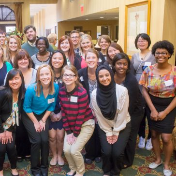 photo of students posing at Spring Research Conference