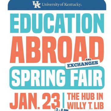 graphic image with info about Education Abroad fair