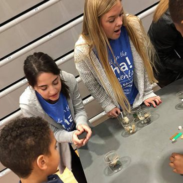Elementary Education Students Serve at Science Night