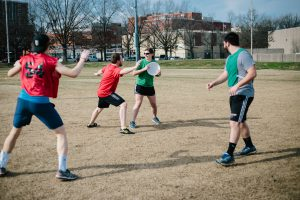 ultimate frisbee game photo