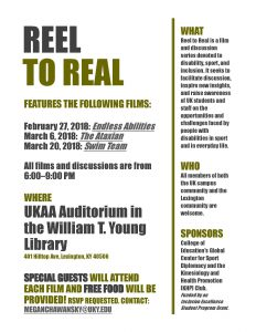 flyer for film series