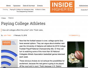 screen shot of Inside Higher Ed editorial