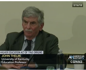 screen capture of Dr. Thelin on C-SPAN