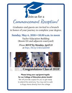 Commencement reception flyer