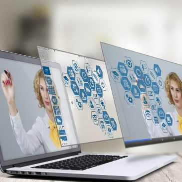 stock image of laptop computer