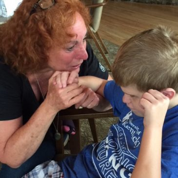Kentucky Deaf-Blind Project Mac Cawthon with his intervener Barb Martin
