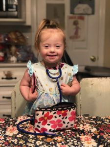Photo of two-year-old Scarlett Yost, who has Down syndrome