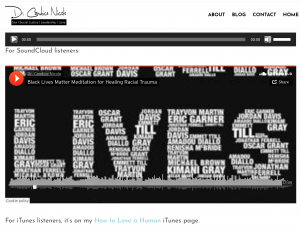 screenshot of webpage where Black Lives Matter Meditation can be accessed