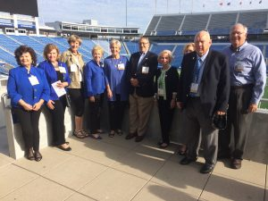 Several members of the UK College of Education class of 1969 pose for a photo at 50th reunion