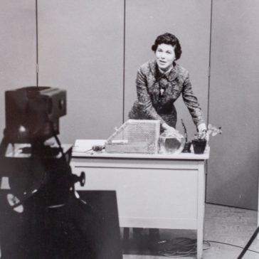 photo of Wilma Klein teaching on her TV show