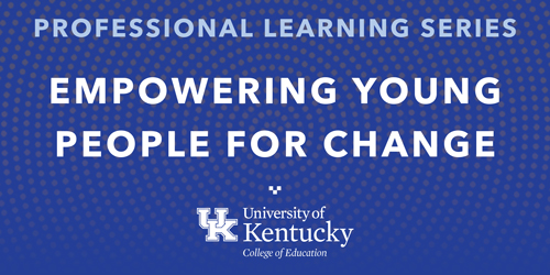 decorative image that says Empowering Young People for Change