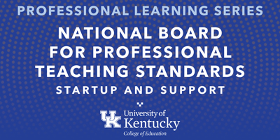 decorative image that says national board certified teacher training