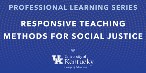 decorative image that says responsive teaching for social justice