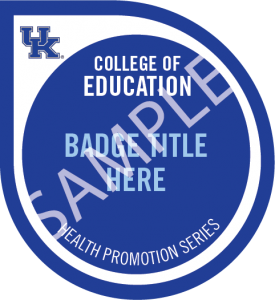 Health promotion badge