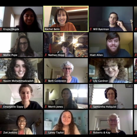screen shot of a zoom meeting